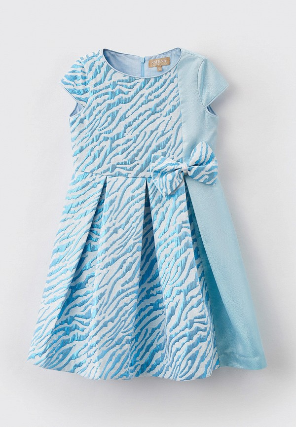 нарядные платье smena для девочки, голубое