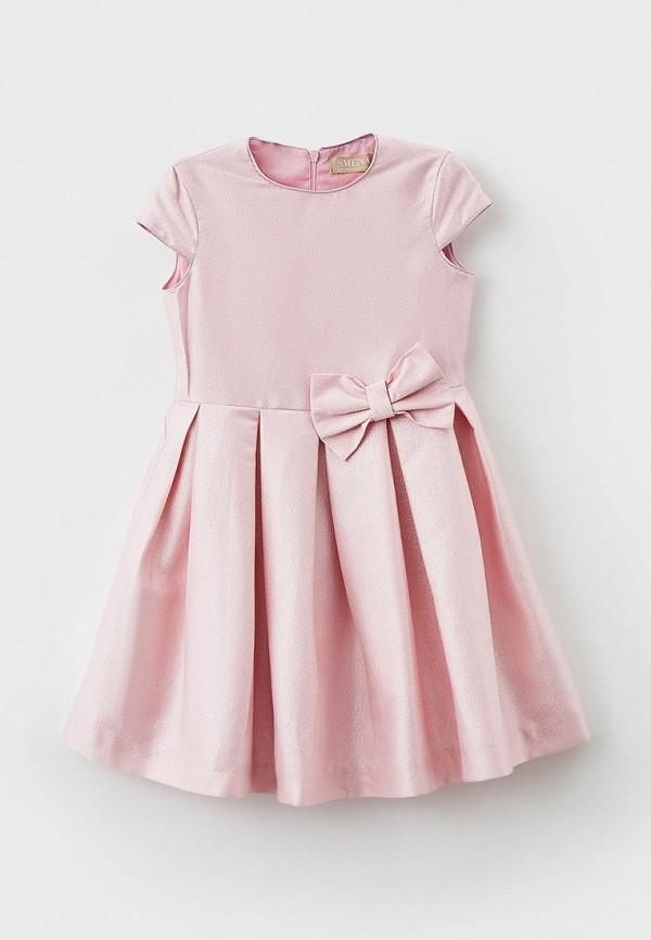 нарядные платье smena для девочки, розовое