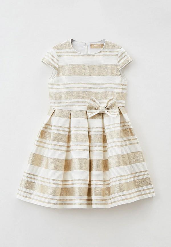 нарядные платье smena для девочки, золотое