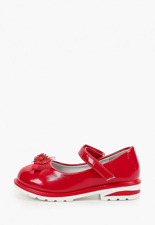 туфли капитошка для девочки, красные