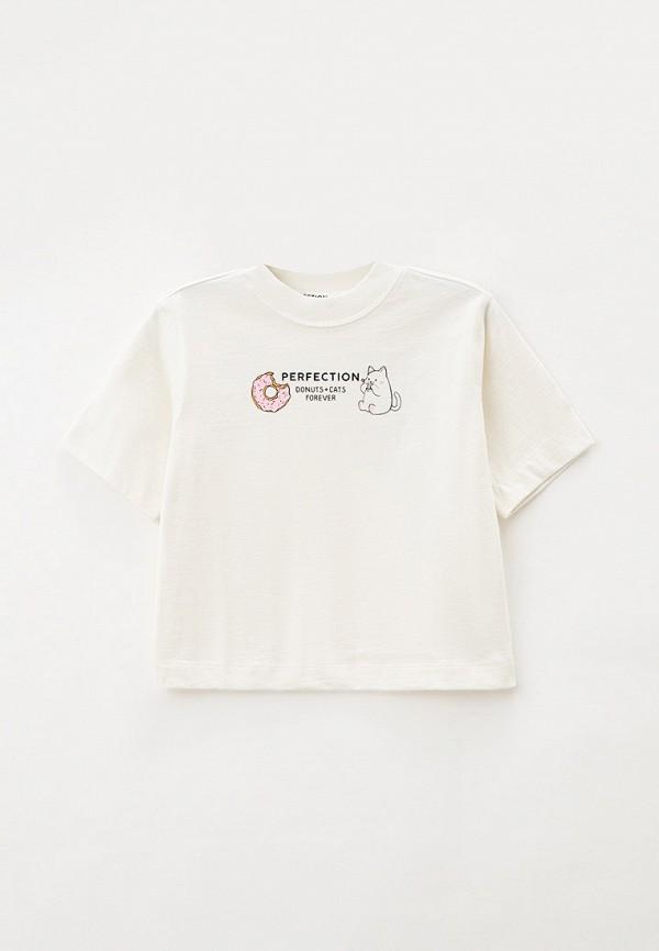 футболка с коротким рукавом gloria jeans для девочки, белая