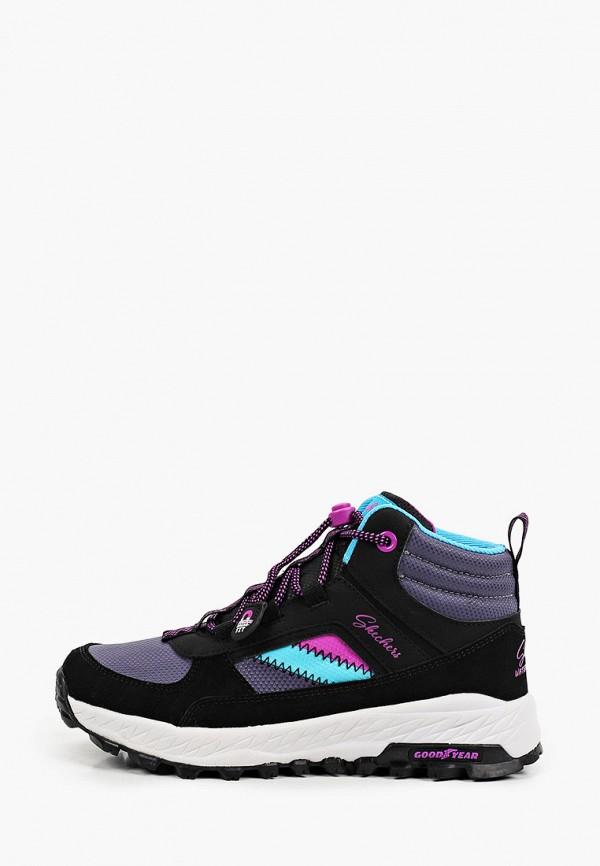 кроссовки skechers для девочки, черные
