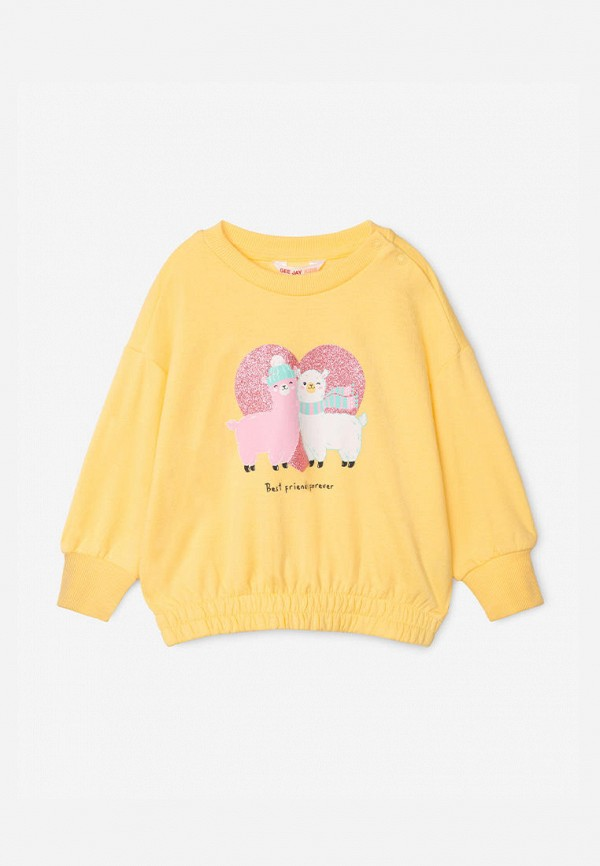 свитшот gloria jeans для девочки, желтый