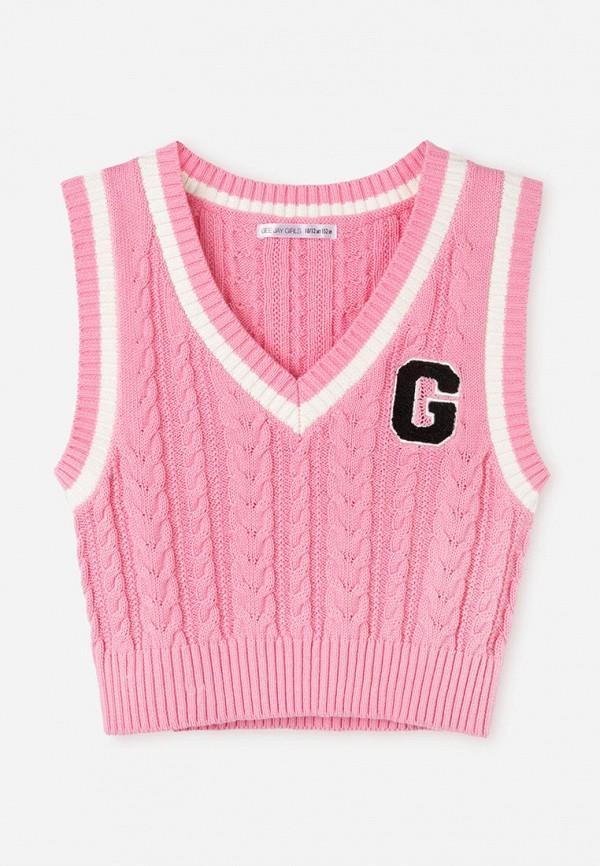 жилет gloria jeans для девочки, розовый