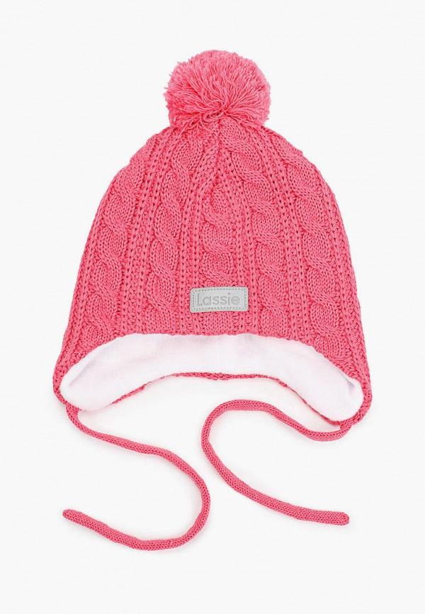 шапка lassie by reima для девочки, розовая