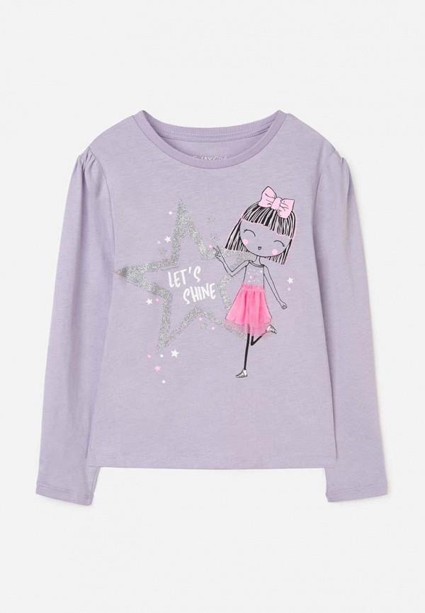 лонгслив gloria jeans для девочки, фиолетовый