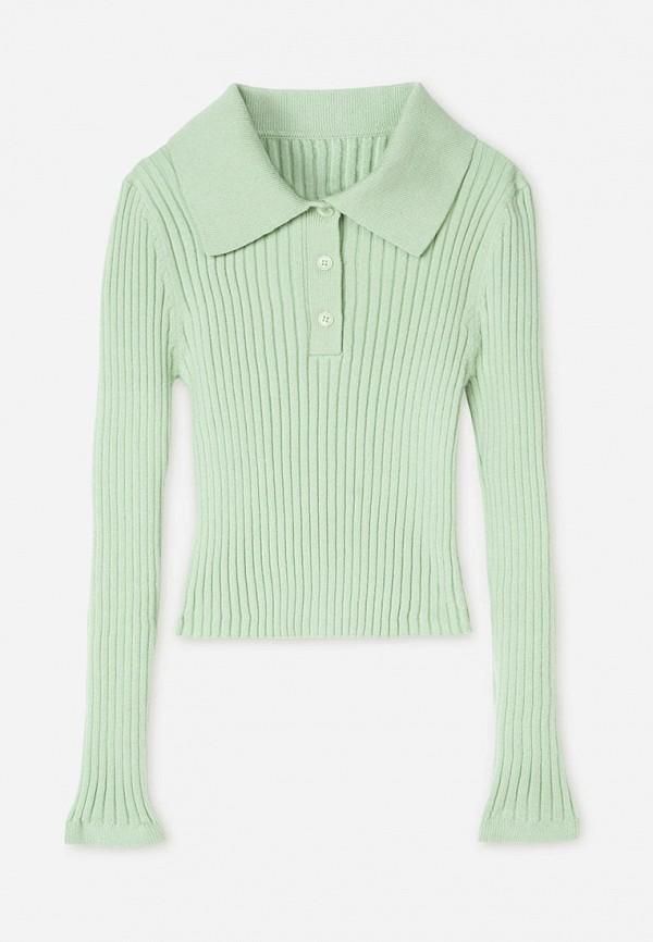 поло gloria jeans для девочки, зеленое