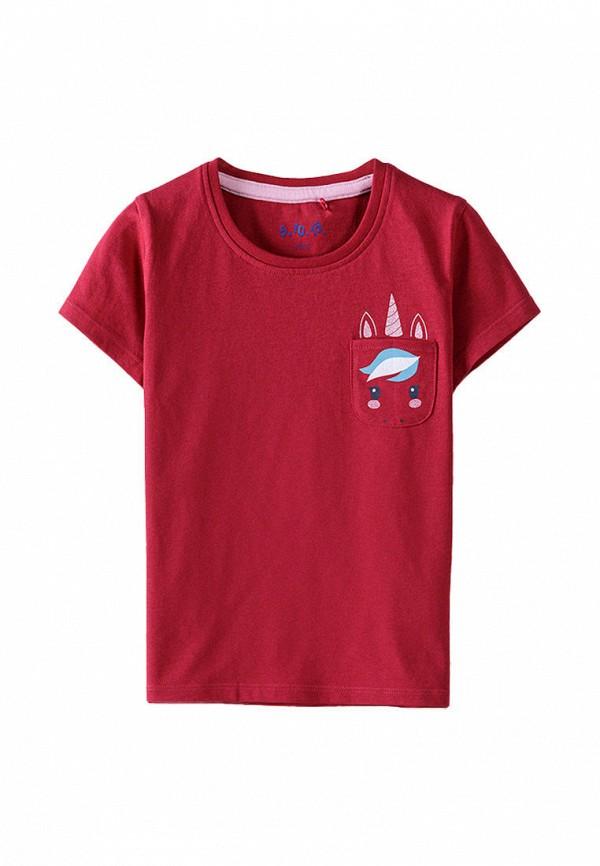 футболка с коротким рукавом 5.10.15 для девочки, красная