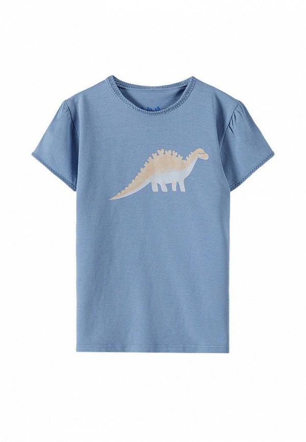 футболка с коротким рукавом 5.10.15 для девочки, голубая