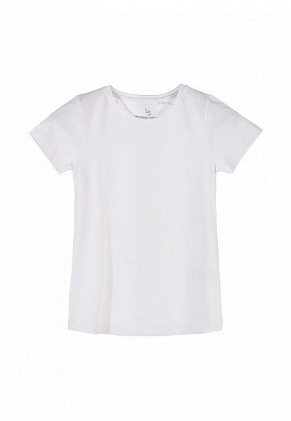 футболка с коротким рукавом 5.10.15 для девочки, белая