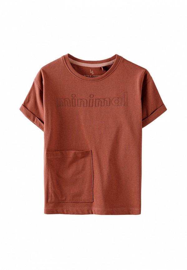 футболка с коротким рукавом 5.10.15 для девочки, коричневая