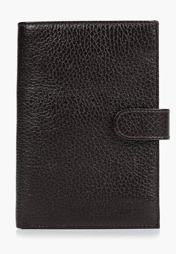 мужской кошелёк bond non, коричневый