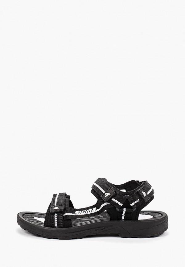 мужские сандалии sigma, черные