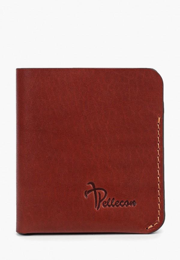 мужской кошелёк pellecon, коричневый