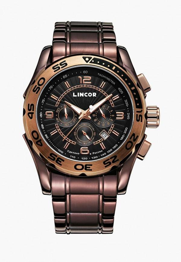 мужские часы lincor, коричневые