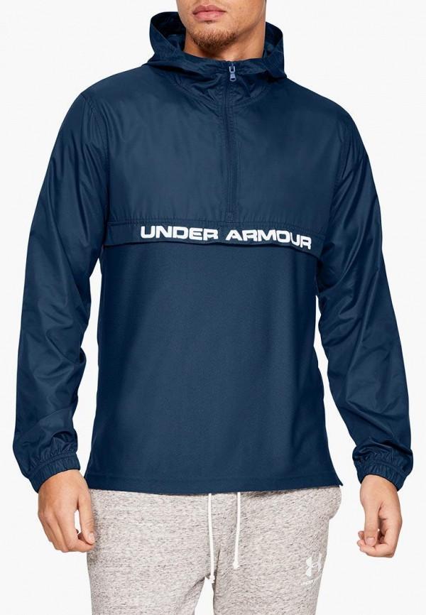 мужская ветровка under armour, синяя