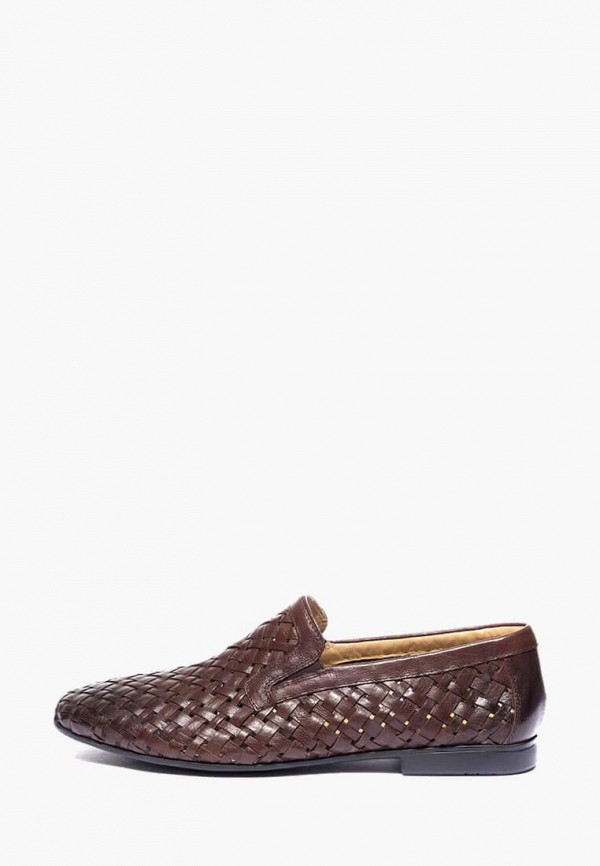 мужские лоферы basconi, коричневые