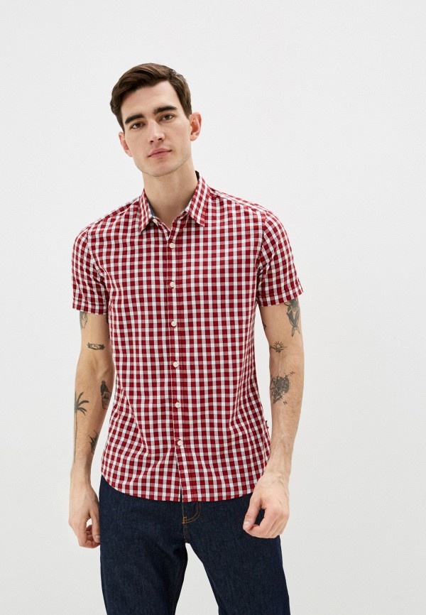 мужская рубашка colin's, красная