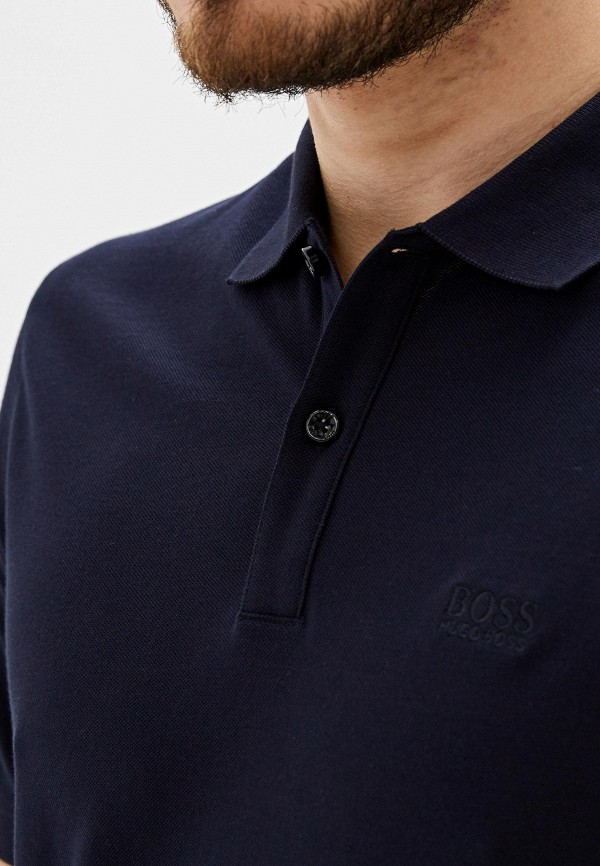 Поло Boss Hugo Boss цвет черный  Фото 4