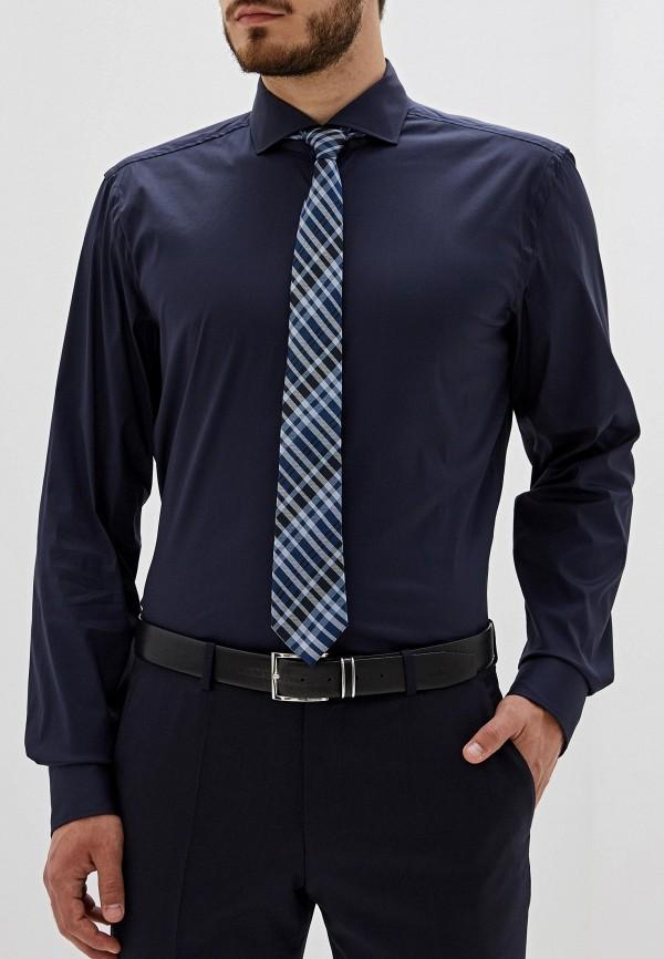 мужская рубашка hugo boss, синяя