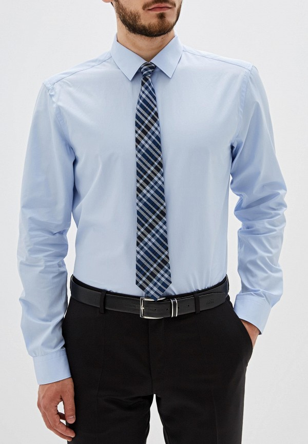 Рубашка Boss Hugo Boss цвет голубой