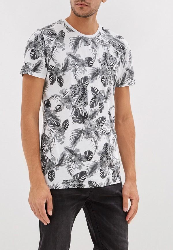 мужская футболка befree, белая