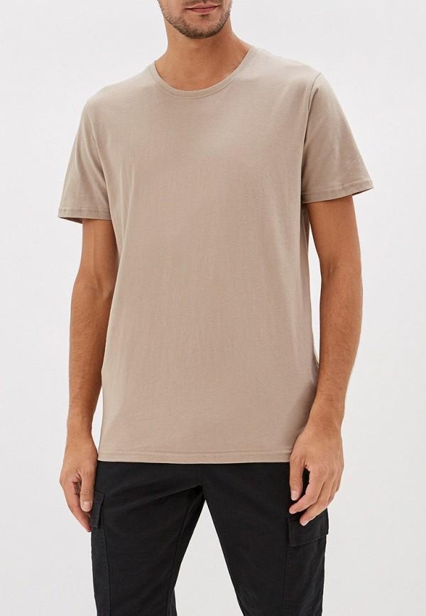 мужская футболка befree, бежевая