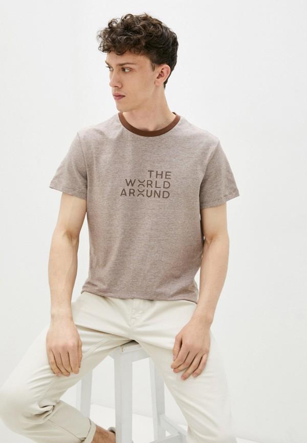 мужская футболка с коротким рукавом mark formelle, бежевая