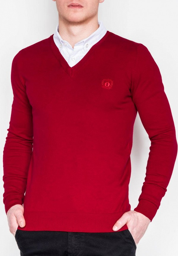 мужской пуловер ombre, красный