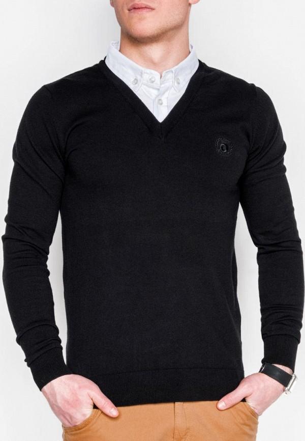 мужской пуловер ombre, черный