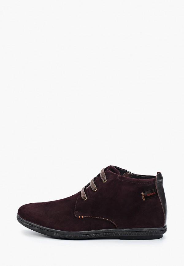 мужские высокие ботинки franco bellucci, бордовые