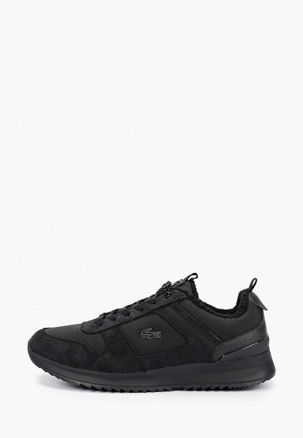 мужские низкие кроссовки lacoste, черные