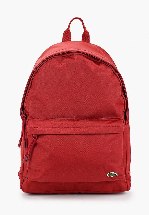 мужской рюкзак lacoste, бордовый