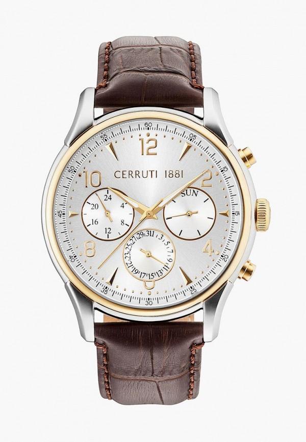 мужские часы cerruti 1881, коричневые