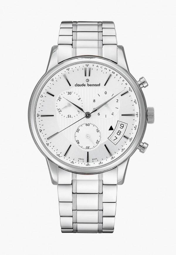 мужские часы claude bernard, серебряные