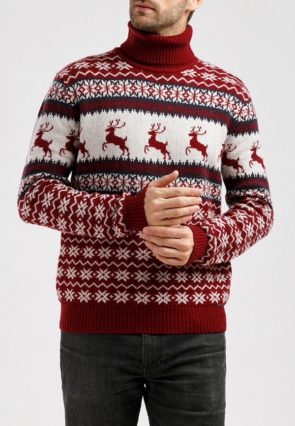 Свитер Finn Flare Finn Flare MP002XM07X8L бордовый женский свитер