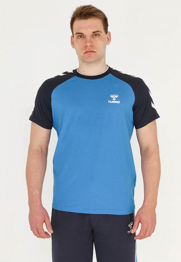 мужская спортивные футболка hummel, голубая