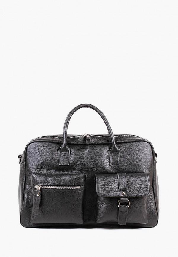 мужская сумка с ручками медведково, черная