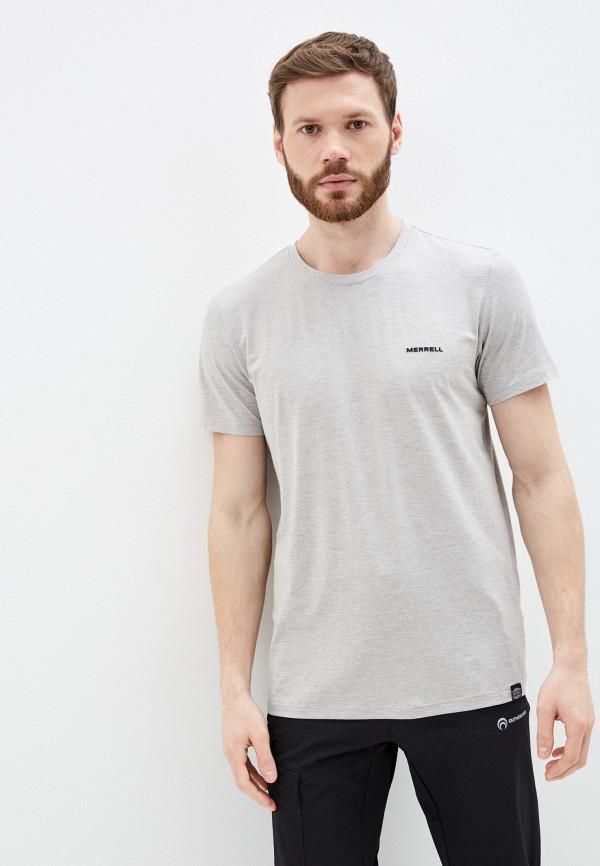 мужская футболка с коротким рукавом merrell, серая