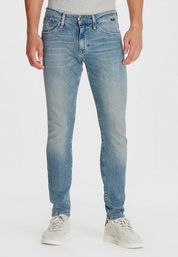 мужские зауженные джинсы mavi, голубые