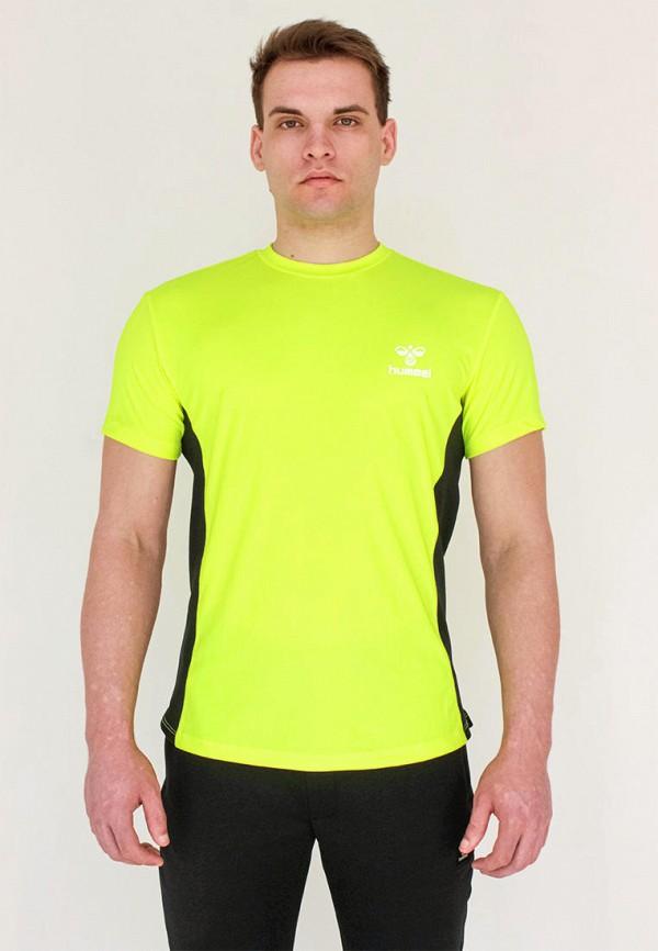 мужская спортивные футболка hummel, зеленая