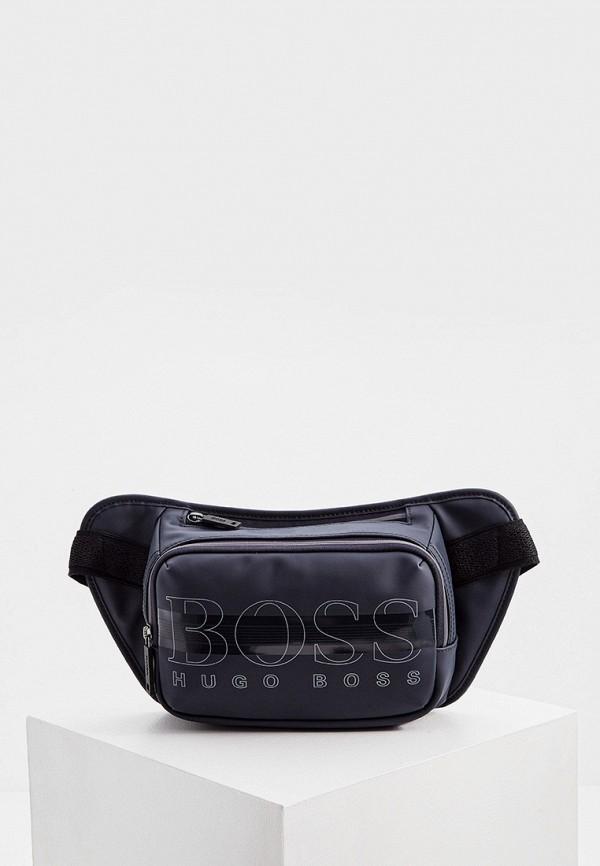 мужская поясные сумка boss, синяя