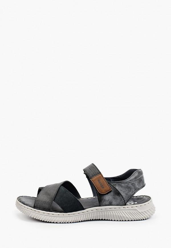 мужские сандалии rieker, серые