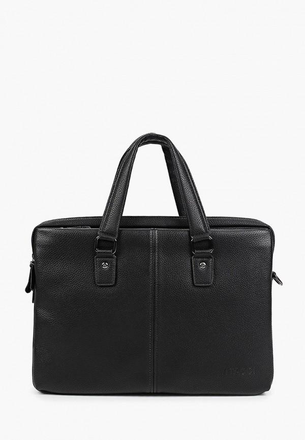 мужская сумка с ручками vitacci, черная