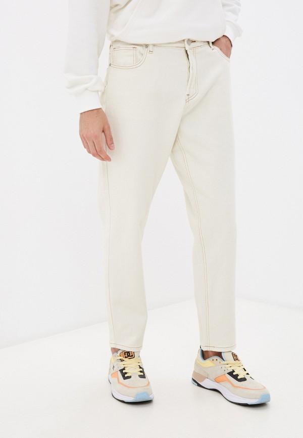 мужские зауженные джинсы befree, бежевые
