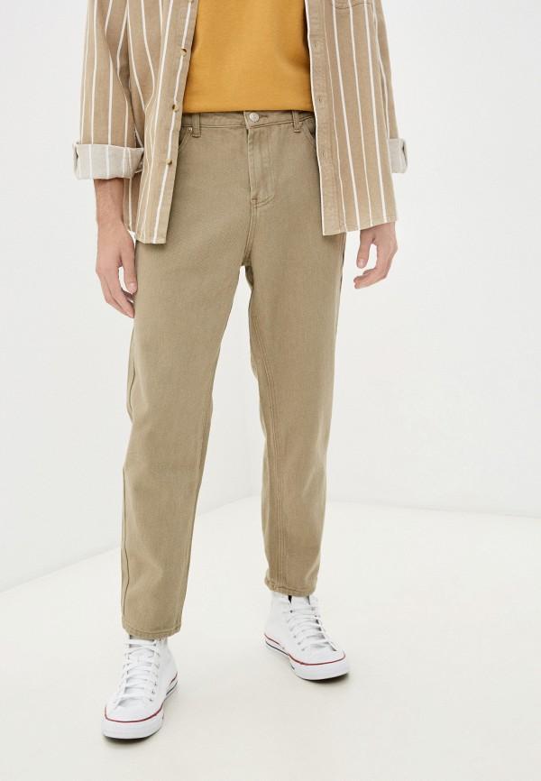 мужские зауженные брюки befree, бежевые