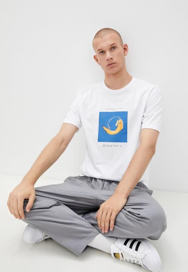 мужская футболка с коротким рукавом mark formelle, белая