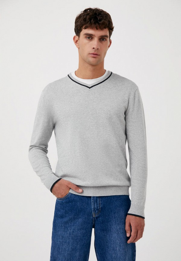 Пуловер Finn Flare серого цвета
