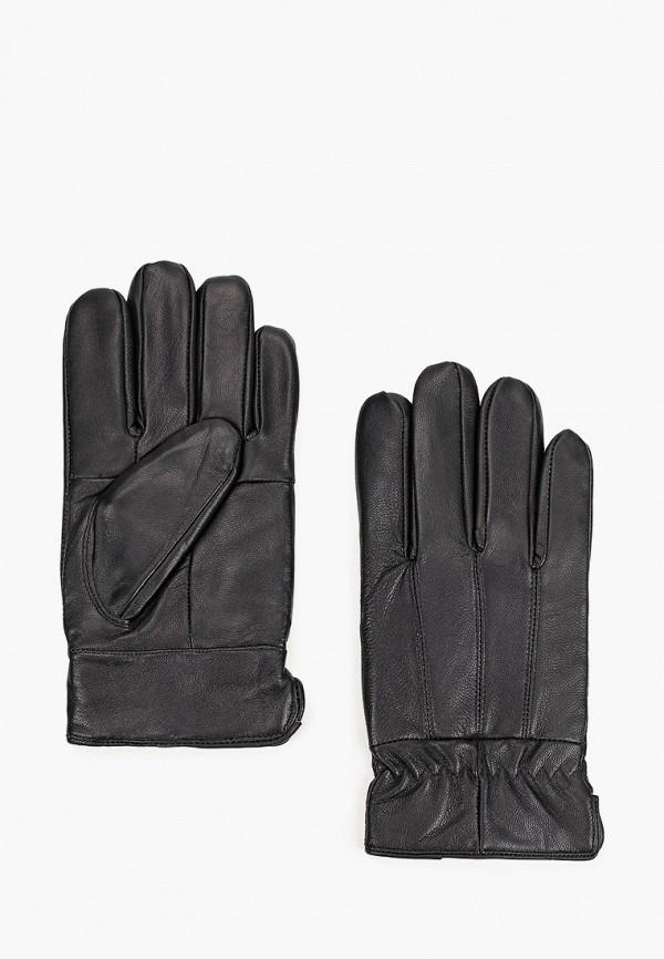 мужские кожаные перчатки zolla, черные