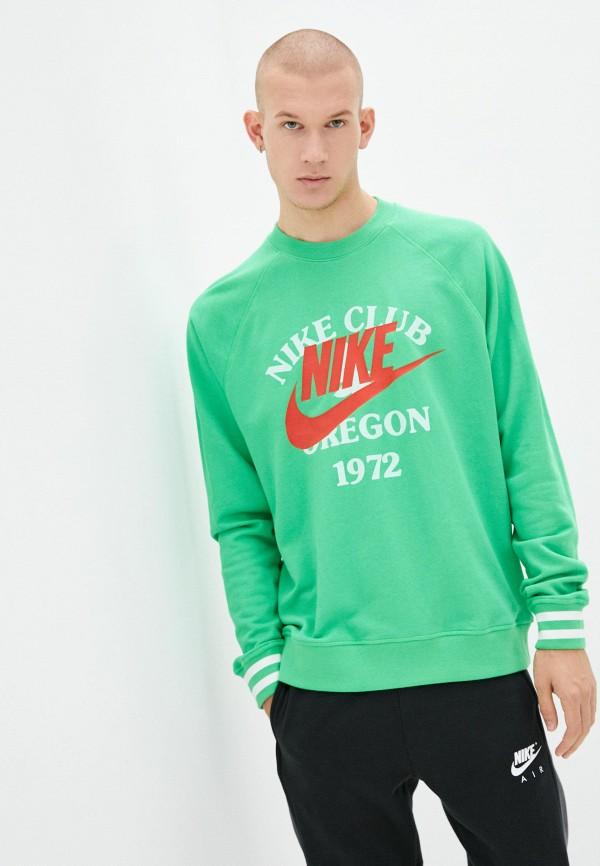 мужской свитшот nike, зеленый